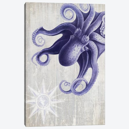 Octopus VII Canvas Print #FNK1194} by Fab Funky Canvas Artwork