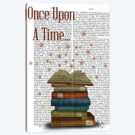 Once Upon A Time Books Canvas Print #FNK1199} by Fab Funky Canvas Art Print