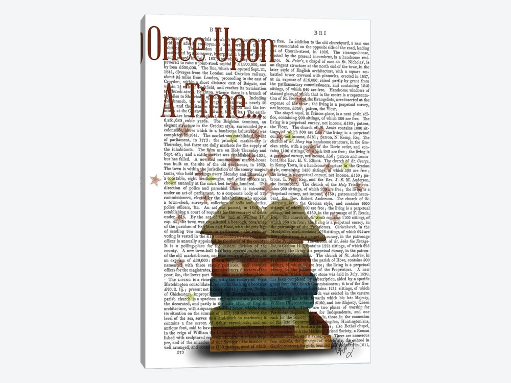 Once Upon A Time Books by Fab Funky 1-piece Canvas Artwork