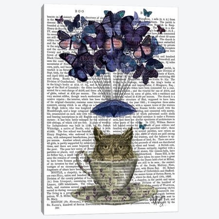 Owl In Teacup Canvas Print #FNK1201} by Fab Funky Canvas Print