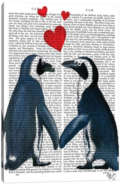 Penguins With Love Hearts Canvas Art Print