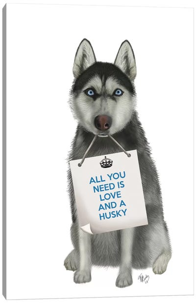 Husky Canvas Art Print