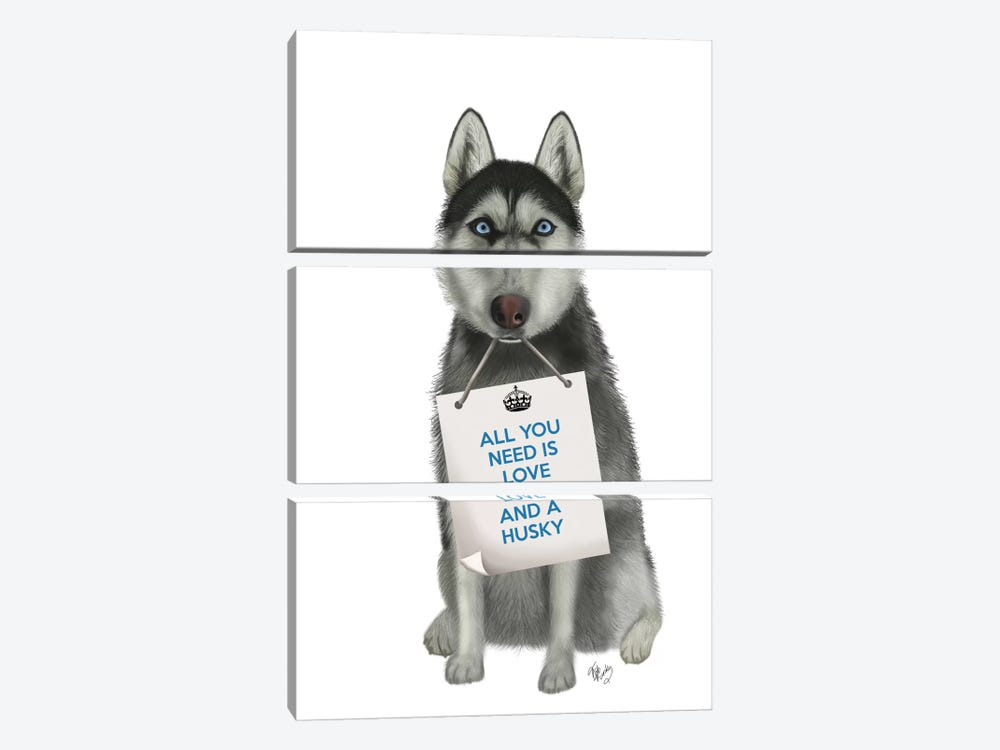 Husky by Fab Funky 3-piece Canvas Wall Art