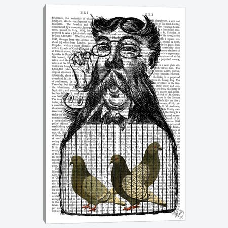 Pigeon Fancier 3-Piece Canvas #FNK1221} by Fab Funky Canvas Art Print