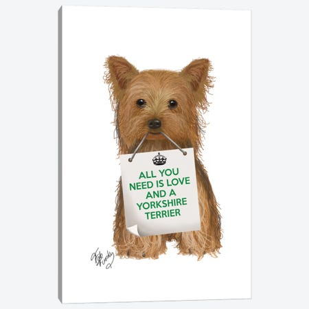 Yorkshire Terrier Canvas Print #FNK123} by Fab Funky Canvas Print