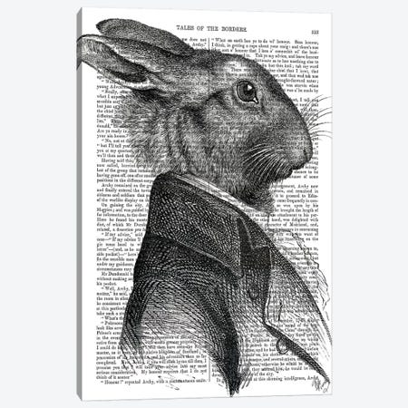 Rabbit Portrait Profile Canvas Print #FNK1246} by Fab Funky Canvas Wall Art