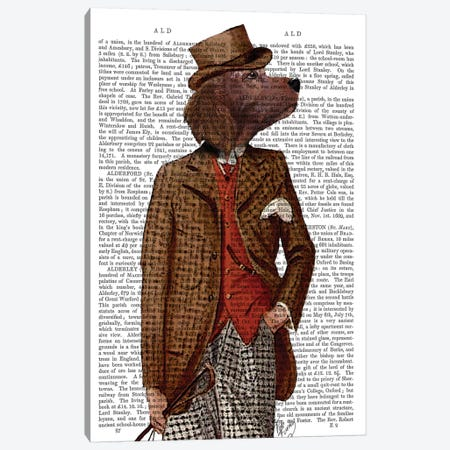 Red Setter Rider Portrait Canvas Print #FNK1251} by Fab Funky Canvas Artwork