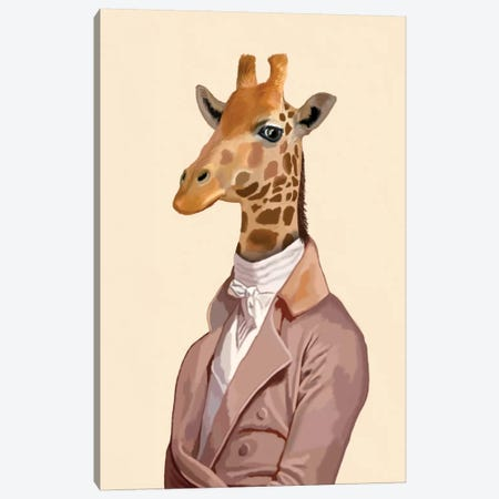 Regency Giraffe Canvas Print #FNK1252} by Fab Funky Canvas Art