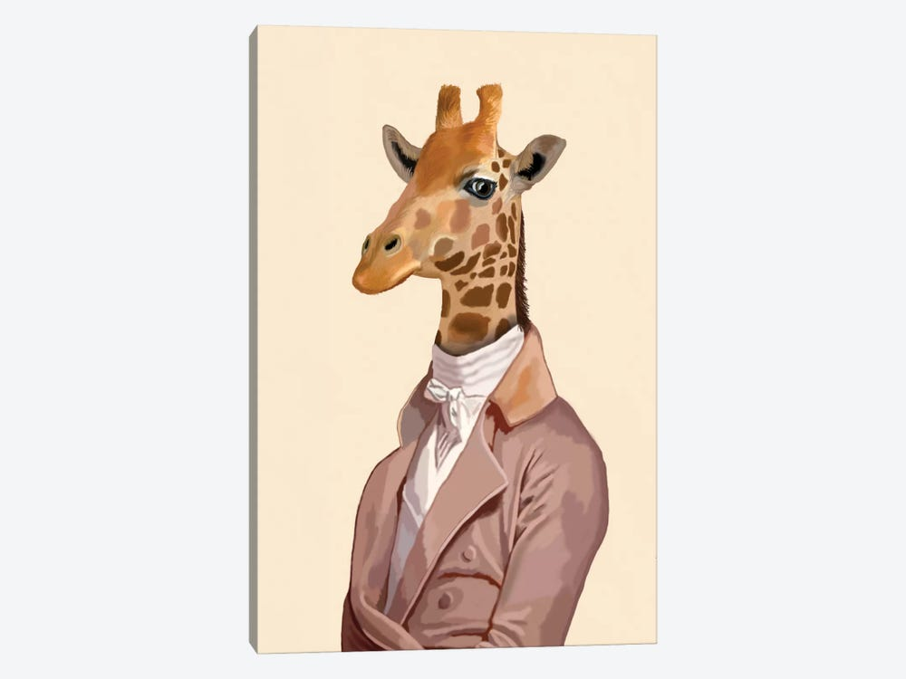 Regency Giraffe by Fab Funky 1-piece Canvas Print