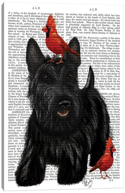 Scottish Terrier & Birds Canvas Art Print