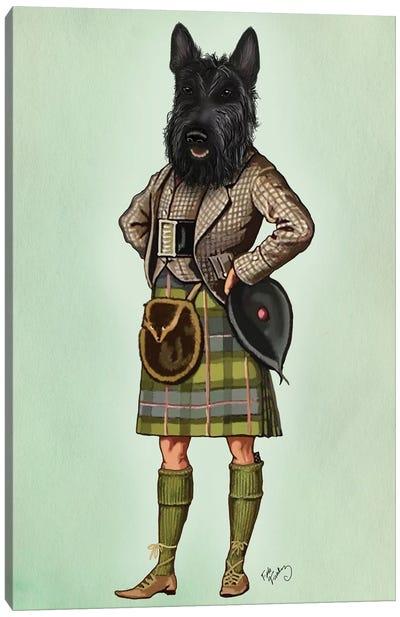 Scottish Terrier In Kilt Canvas Art Print