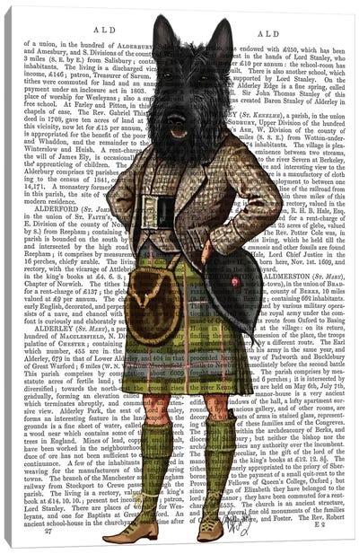 Scottish Terrier In Kilt, Print BG Canvas Art Print