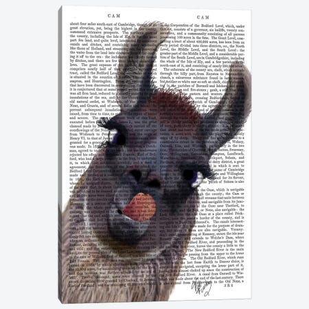 Silly Llama Canvas Print #FNK1269} by Fab Funky Canvas Art Print