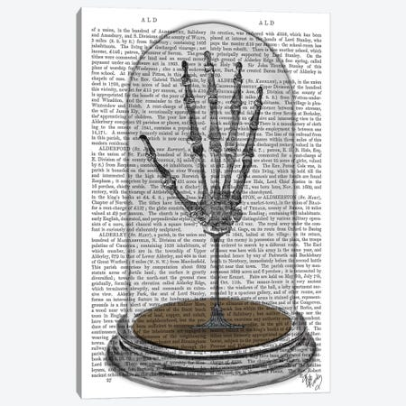 Skeleton Hand In Bell Jar Canvas Print #FNK1270} by Fab Funky Canvas Art