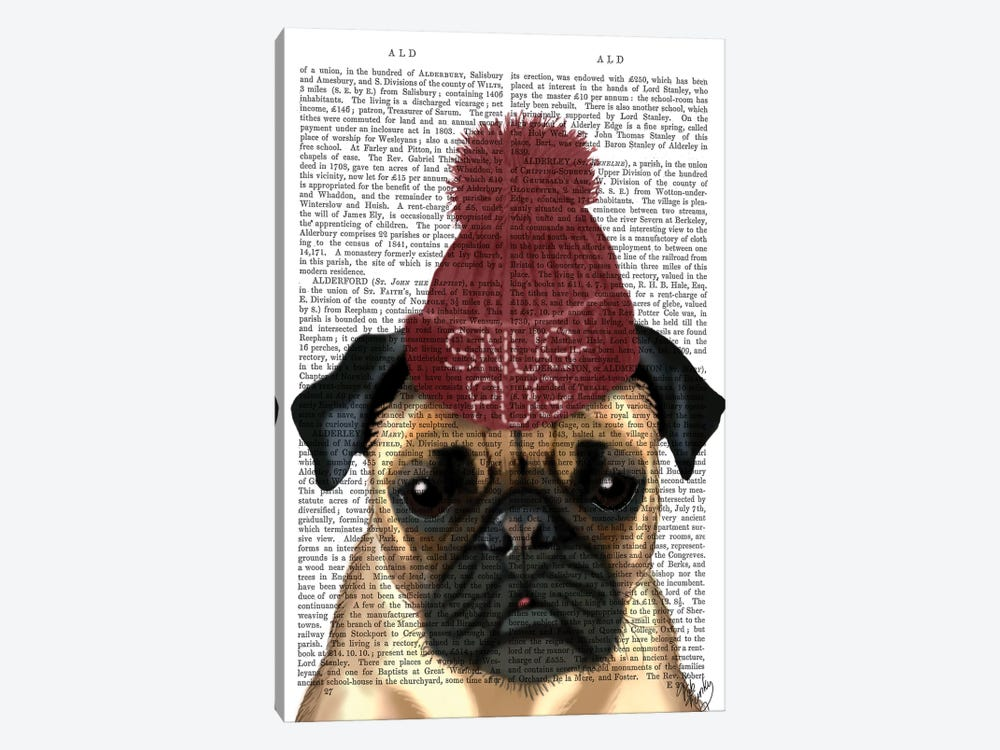 Snug Pug by Fab Funky 1-piece Canvas Print