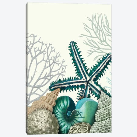 Starfish Under The Sea Canvas Print #FNK1278} by Fab Funky Canvas Wall Art