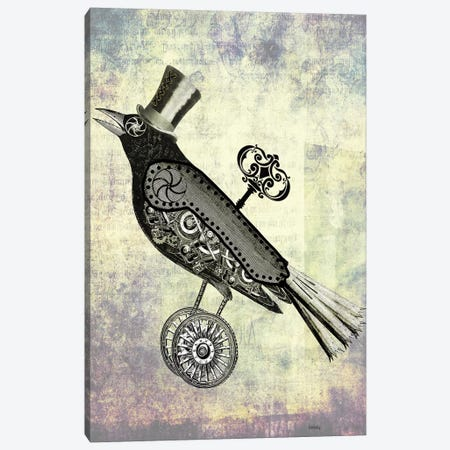 Steampunk Crow Canvas Print #FNK1281} by Fab Funky Canvas Art Print