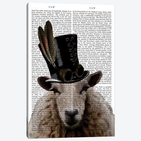 Steampunk Sheep Canvas Print #FNK1282} by Fab Funky Canvas Print