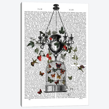 Strawberry Chandelier Canvas Print #FNK1283} by Fab Funky Canvas Print