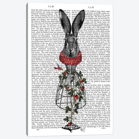 Strawberry Hare Canvas Print #FNK1286} by Fab Funky Canvas Wall Art