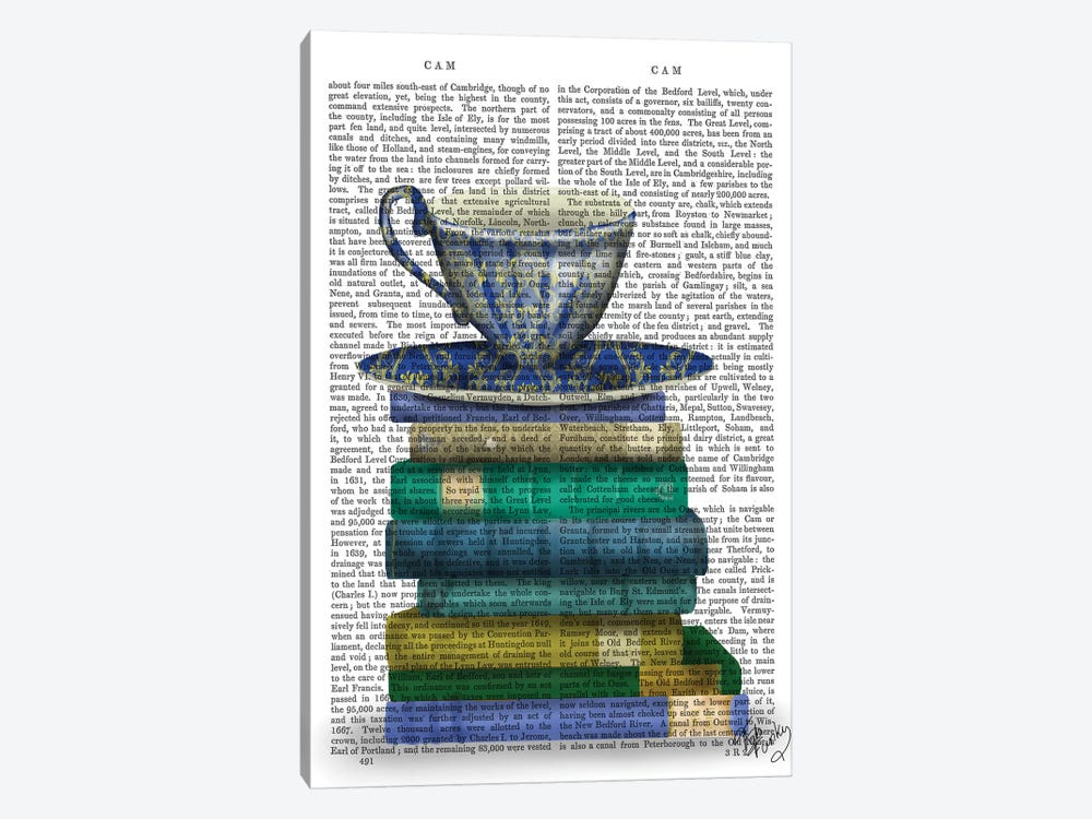 Teacup & Books by Fab Funky 1-piece Canvas Wall Art