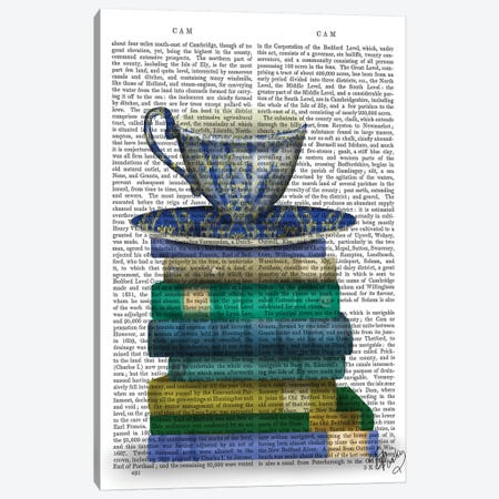Teacup & Books Canvas Print #FNK1288} by Fab Funky Canvas Art Print