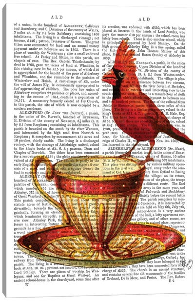 Teacup & Red Cardinal Canvas Art Print