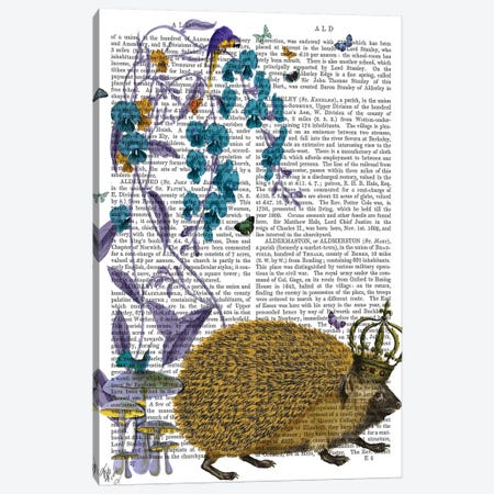 The Golden Hedgehog Canvas Print #FNK1292} by Fab Funky Canvas Wall Art