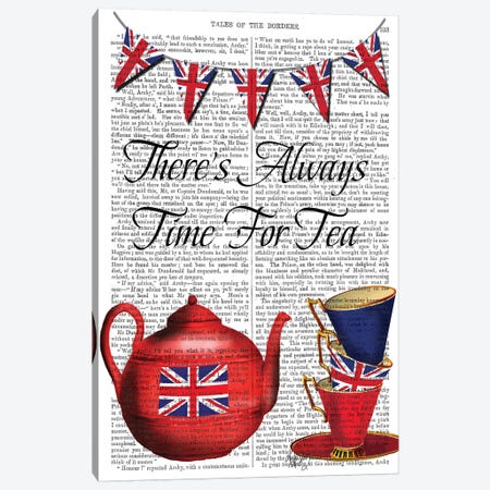 Time For Tea Canvas Print #FNK1295} by Fab Funky Art Print