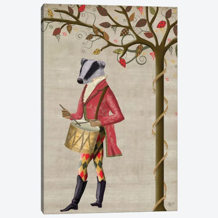 Badger Minstrel II Canvas Print #FNK129} by Fab Funky Art Print