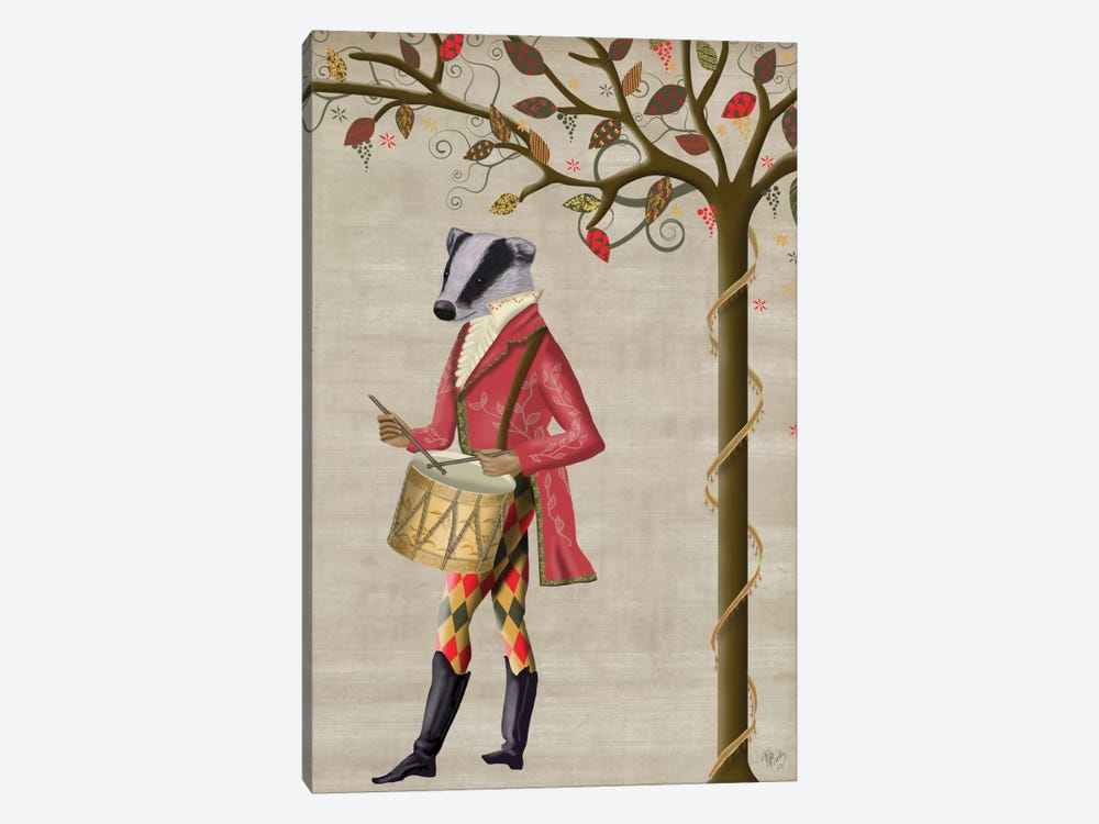 Badger Minstrel II by Fab Funky 1-piece Canvas Artwork