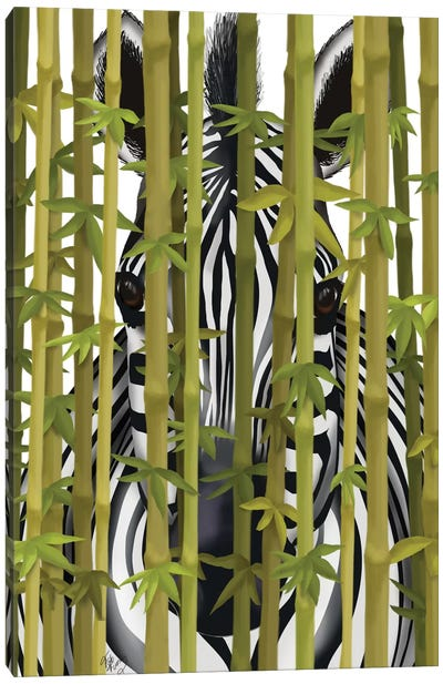 Bamboo Zebra Canvas Art Print