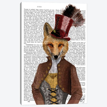 Vivienne Steampunk Fox Canvas Print #FNK1314} by Fab Funky Canvas Artwork