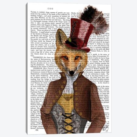 Vivienne Steampunk Fox Canvas Print #FNK1314} by Fab Funky Canvas Artwork
