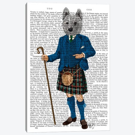 West Highland Terrier In Kilt Canvas Print #FNK1315} by Fab Funky Canvas Art