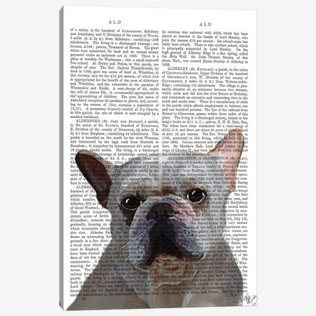 White French Bulldog Canvas Print #FNK1319} by Fab Funky Canvas Print