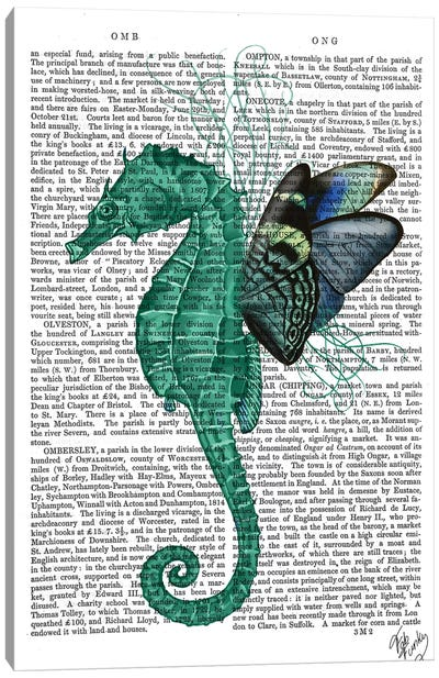 Winged Seahorse Canvas Art Print