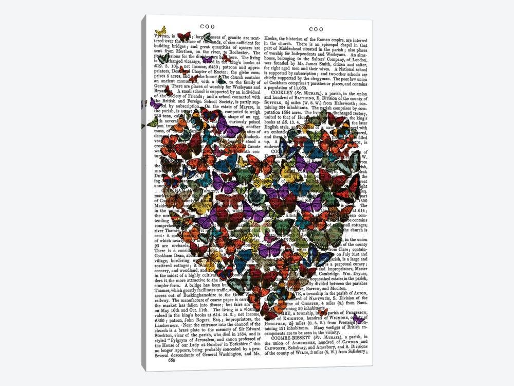 Butterfly Heart by Fab Funky 1-piece Canvas Wall Art