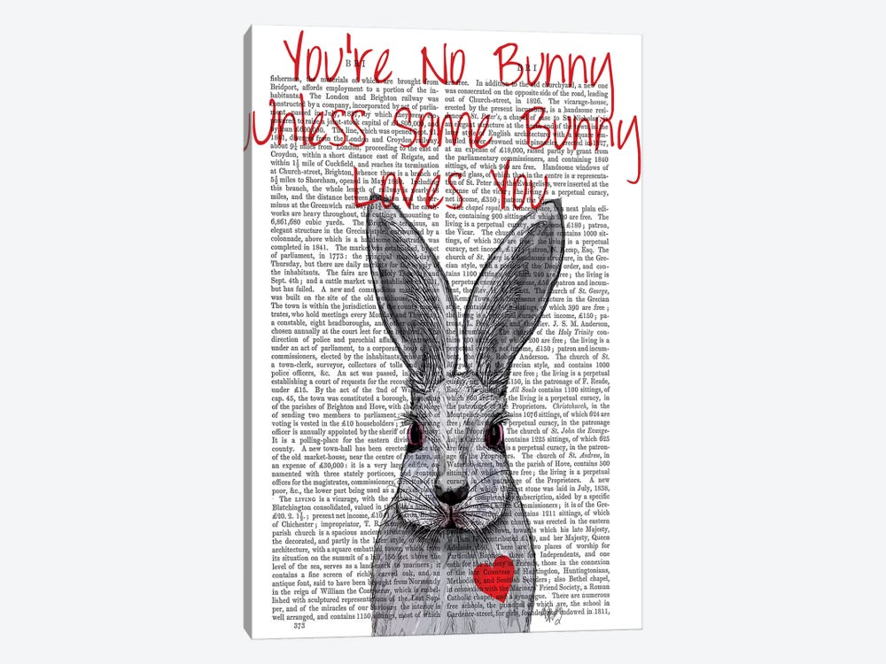 You're No Bunny by Fab Funky 1-piece Canvas Wall Art