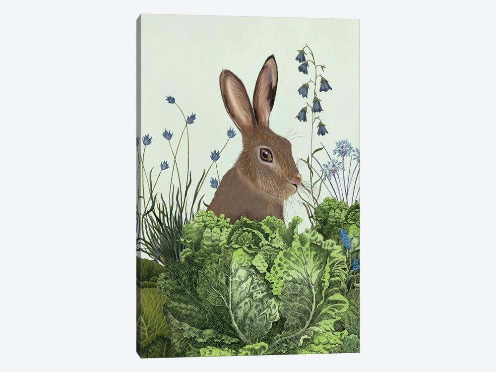 Cabbage Patch Rabbit II by Fab Funky 1-piece Art Print
