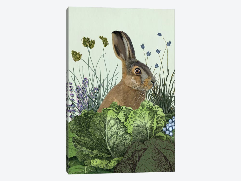 Cabbage Patch Rabbit III by Fab Funky 1-piece Canvas Art Print