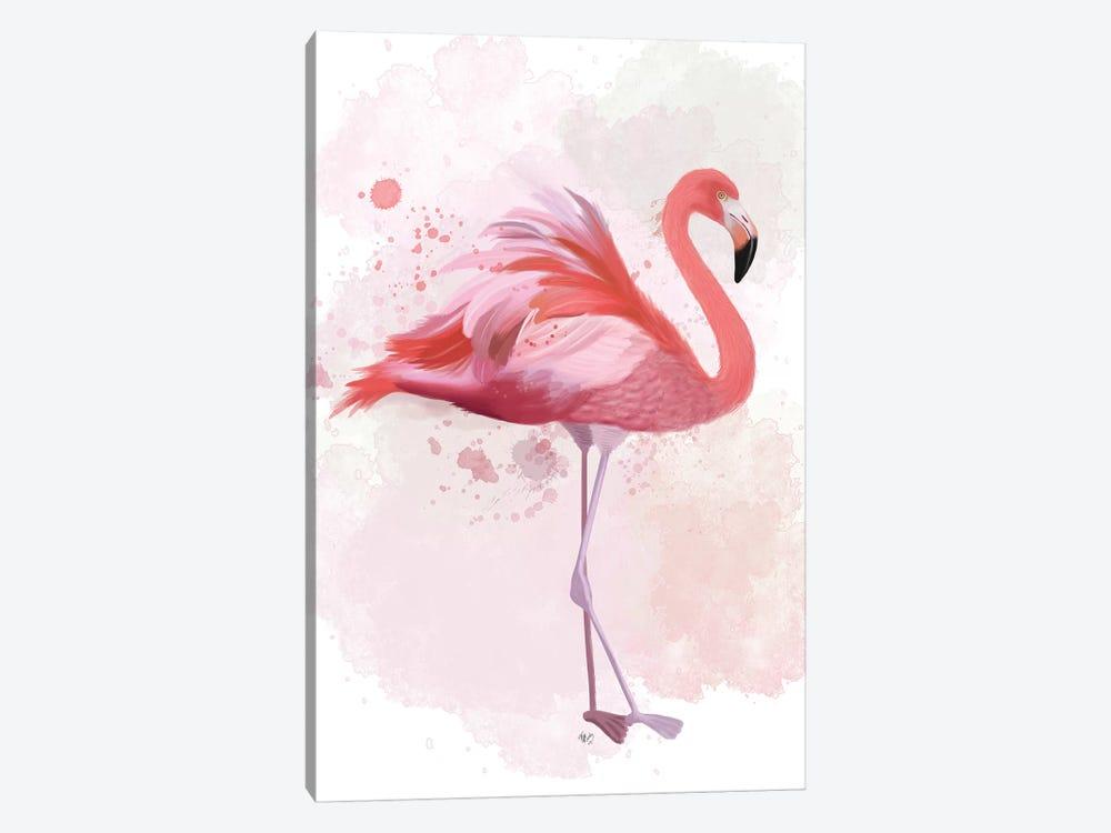 Fluffy Flamingo 2 by Fab Funky 1-piece Art Print