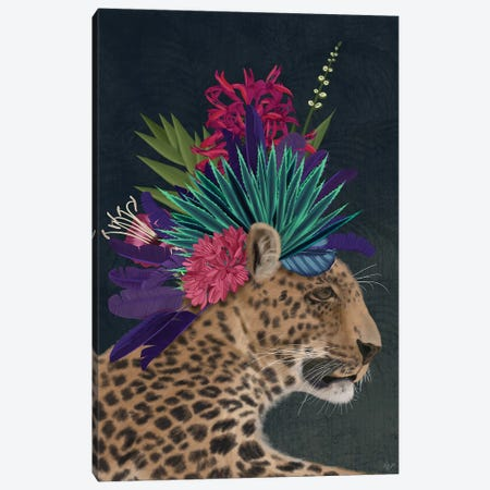 Hot House Leopard 1 Canvas Print #FNK1392} by Fab Funky Canvas Art Print