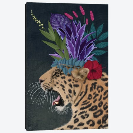 Hot House Leopard 2 Canvas Print #FNK1393} by Fab Funky Canvas Print