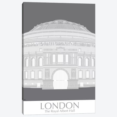 London Albert Hall Monochrome Canvas Print #FNK1402} by Fab Funky Canvas Print