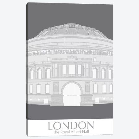 London Albert Hall Monochrome Canvas Print #FNK1402} by Fab Funky Canvas Print