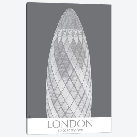 London Gerkin Monochrome Canvas Print #FNK1404} by Fab Funky Canvas Wall Art