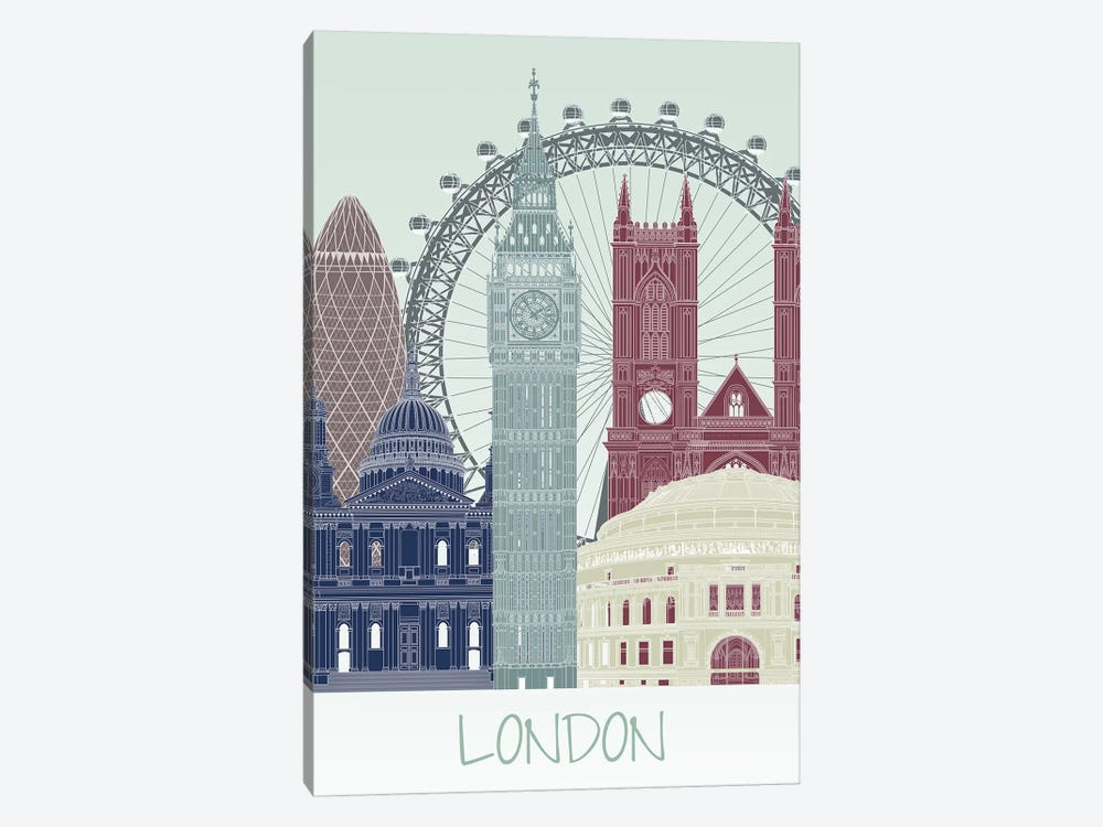 London Skyline II by Fab Funky 1-piece Canvas Artwork