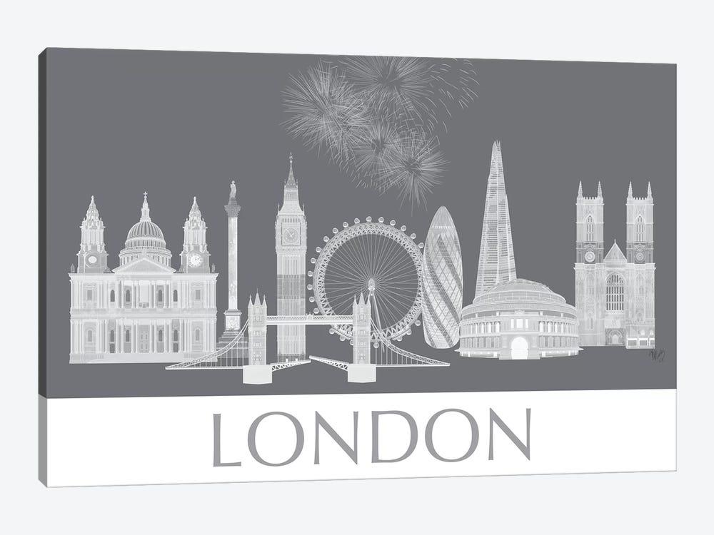 London Skyline Monochrome by Fab Funky 1-piece Canvas Print