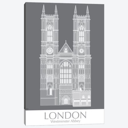 London Westminster Abbey Monochrome Canvas Print #FNK1414} by Fab Funky Canvas Print